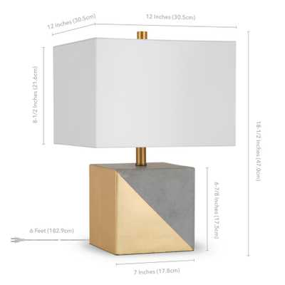 Hudson&Canal Severin 18-1/2 in. Gold Dipped Concrete Table Lamp - Home Depot