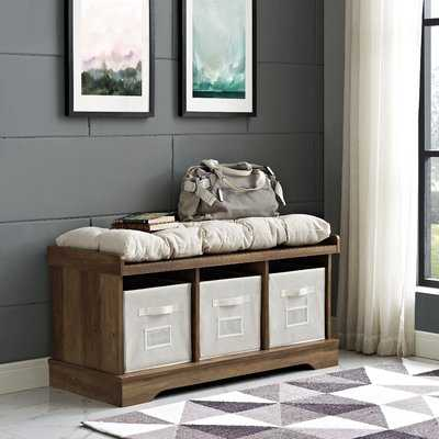 Bucyrus Wood Storage Bench - Wayfair
