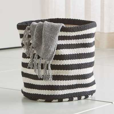 Mohave Large Stripe Basket - Crate and Barrel