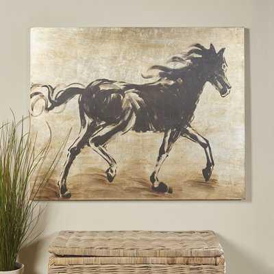 'Black Beauty' Wrapped Canvas Print on Canvas - Birch Lane