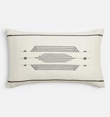 Woven Black and White Pillow Cover - Rejuvenation