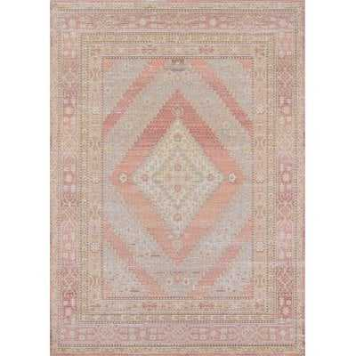 Pink Geometric Area Rug - Birch Lane