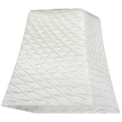 Westinghouse 5-1/4 in. Hand-Blown Lunar Weave Flared Cube Shade with 2-1/4 in. Fitter and 5 in. Width, White - Home Depot