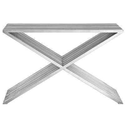 Silver Press Console Table - Home Depot