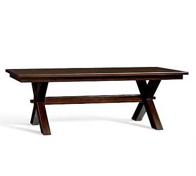"""Toscana Extending Dining Table, Large 88.5"""" - 124.5"""" L, Alfresco Brown - Pottery Barn"""