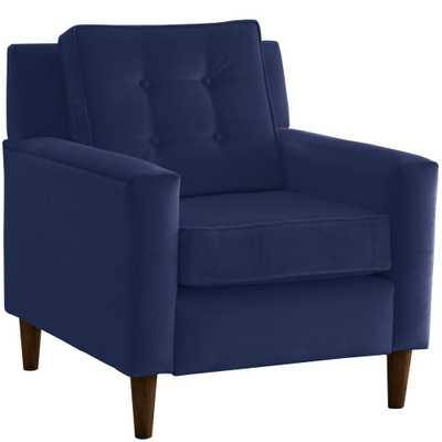 Skyline Furniture Hdc Velvet Navy Arm Chair - Home Depot