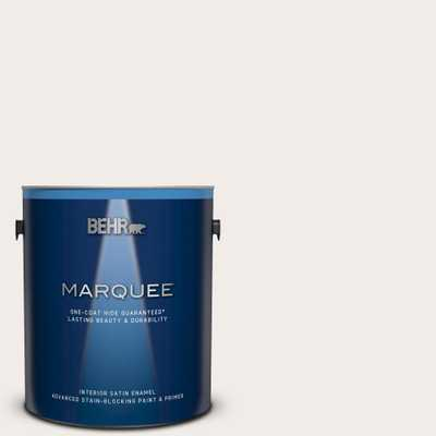BEHR MARQUEE 1 gal. #RD-W10 New House White Satin Enamel Interior Paint and Primer in One - Home Depot