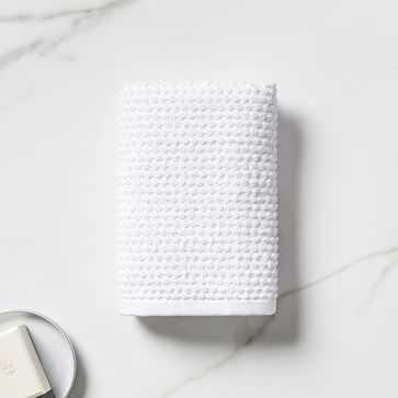 Organic Mini Dot Textured Towel, Hand Towel, White - West Elm