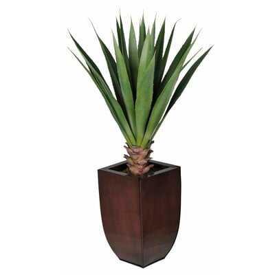 Faux Yucca Plant In Zinc Planter - Wayfair
