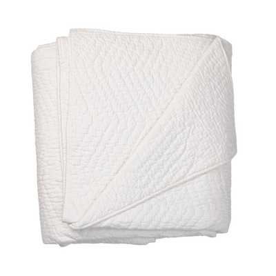 Company White Cotton King Quilt - Home Depot