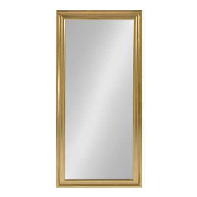 Umber Rectangle Gold Mirror - Home Depot