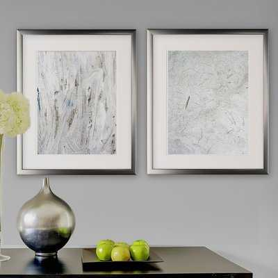 'Abstract Stone I' 2 Piece Framed Graphic Art Print Set - Wayfair