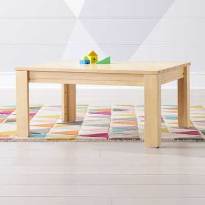 "Small Natural Adjustable Kids Table w/ 15"" Legs - Crate and Barrel"