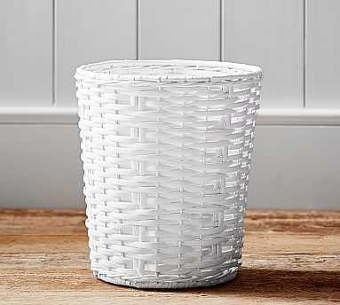 Perry Wastebasket - White - Pottery Barn