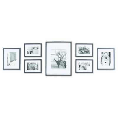 Gallery Solutions 7 Piece Wall Frame Set - Black - Target