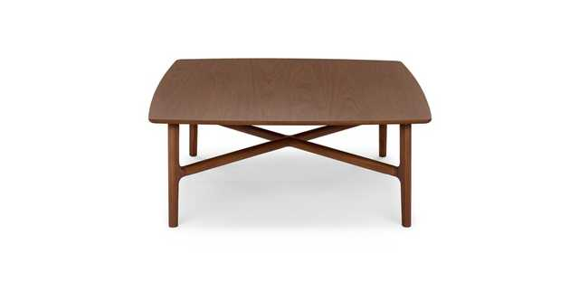 Brezza Matte Walnut Square Coffee Table - Article