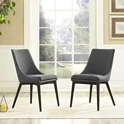 Carlton Wood Leg Upholstered Dining Chair - Wayfair