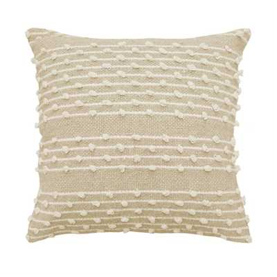 """Pemberly Embellished 18"""" Throw Pillow Beige - Beautyrest - Target"""