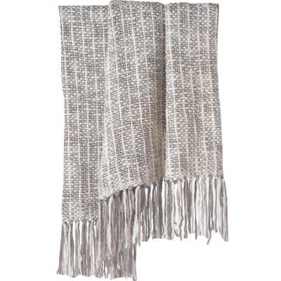 Cozi Grey Knit Chunky Throw, Ivory/Grey Knit - Home Depot