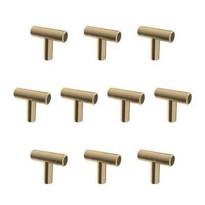 Liberty 1-9/16 in. (40 mm) Champagne Bronze Bar Cabinet Knob (10-Pack) - Home Depot