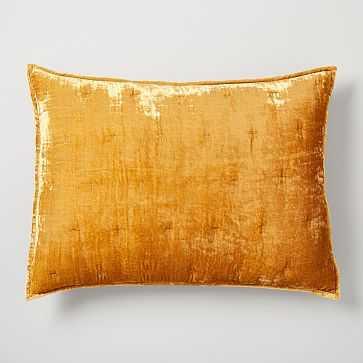 Lush Velvet Tack Stitch Standard Sham, Golden Oaks - West Elm