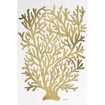 'Gold Coral Artprint' Vintage Advertisement - AllModern