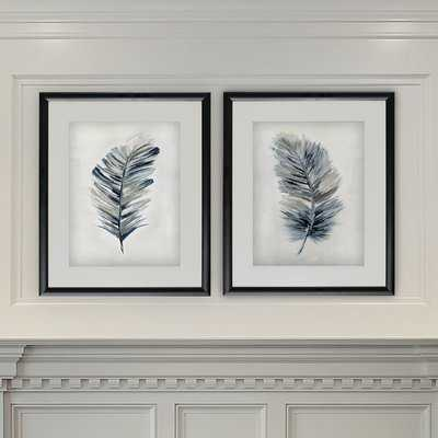 Soft Feathers Framed Print Set - Birch Lane