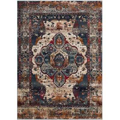 Wayne Slate Blue/Rust Area Rug - Wayfair