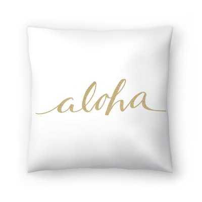 Jetty Printables Aloha Typography Throw Pillow - Wayfair