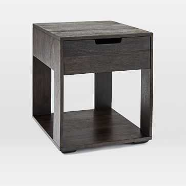 Pure Storage Side Table, Carbon - West Elm