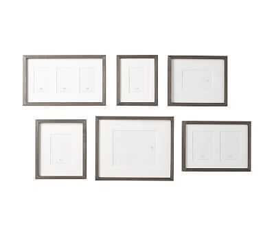 Wood Gallery in a Box Frames, Graywash - Set of 6 - Pottery Barn
