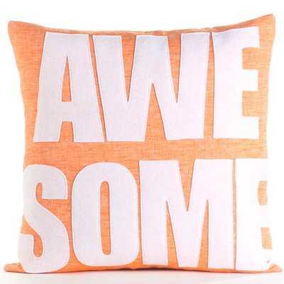 Celebrate Everyday Awesome Linen Throw Pillow - AllModern