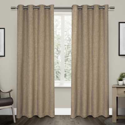 Amalgamated Textiles Vesta Natural Heavyweight Textured Linen Blackout Grommet Top Window Curtain - Home Depot