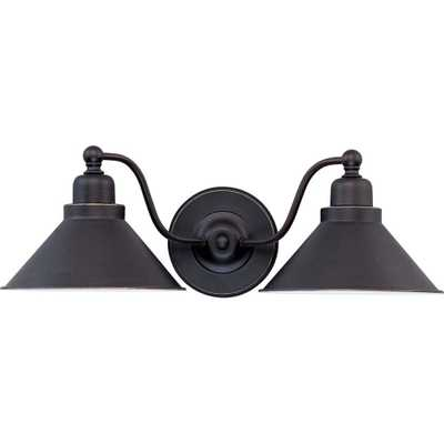 Glomar Siwa Concord 2-Light Mission Dust Bronze Sconce - Home Depot