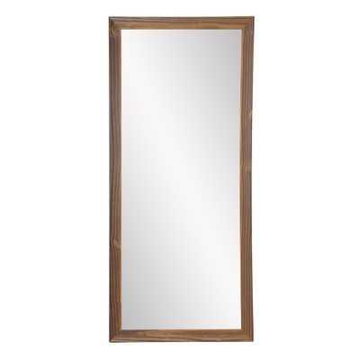 BrandtWorks 32 in. x 65.5 in. Rectangle Mocha Wood Elements Floor Mirror - Home Depot