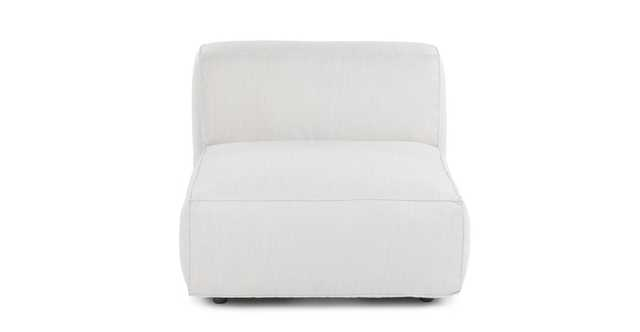 Solae Chill White Armless Chair Module - Article