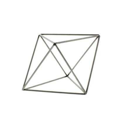 Berrien Steel Geo Octahedron Object Sculpture - Wayfair