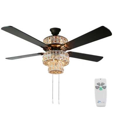 River of Goods Bohemian 52 in. Indoor White Punched Metal Ceiling Fan - Home Depot