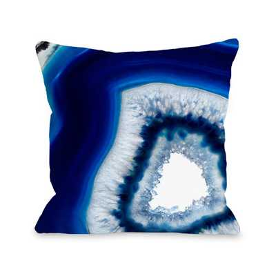 One Bella Casa Geode Abyss Silver 16 in. x 16 in. Decorative Pillow, Blue - Home Depot
