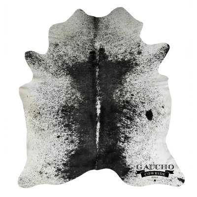 One-of-a-Kind Pinnix Black/White Cowhide Area Rug - Wayfair