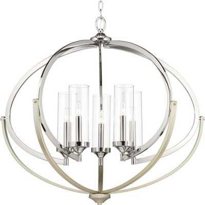 Progress Lighting Evoke Collection 5-Light Polished Nickel Chandelier - Home Depot