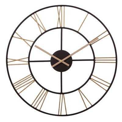 """Amicia Cut Out Roman Numeral 20"""" Wall Clock - Wayfair"""