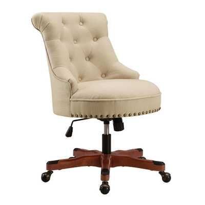 Linon Home Decor Sinclair Beige Office Chair, Beige/Red - Home Depot