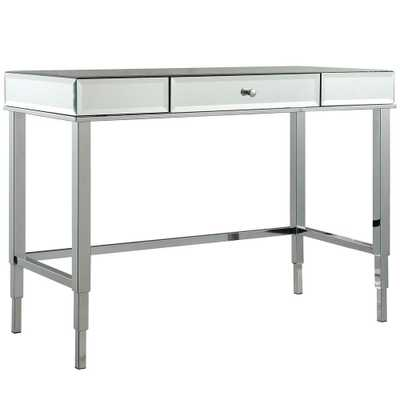 Cecilia Chrome (Grey) Desk - Home Depot