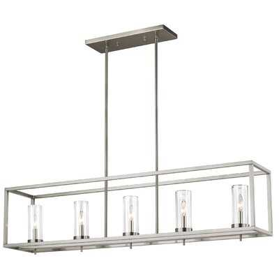 Tallapoosa 5-Light Rectangle Chandelier, brushed nickel, bulb included - Wayfair