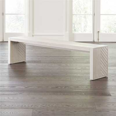 Dunewood Whitewashed Dining Bench - Crate and Barrel