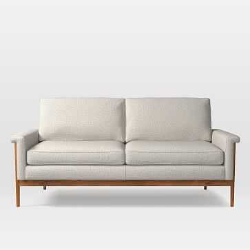 Leon 2.5 Seater Sofa, Twill, Stone - West Elm
