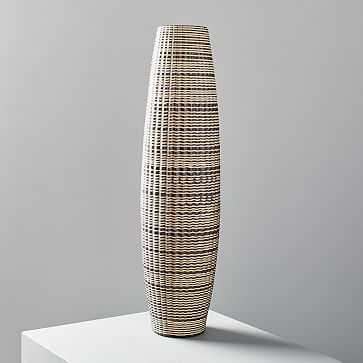 """Carved Ceramic Vase, Tall, 22"""" - West Elm"""