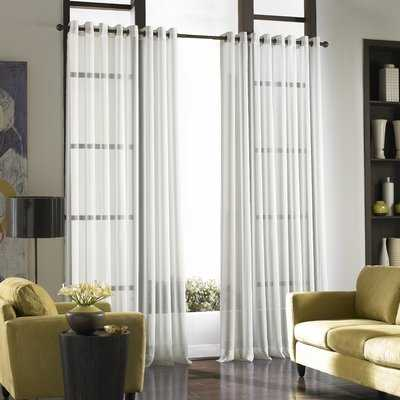 Mannino Solid Sheer Grommet Single Curtain Panel - AllModern