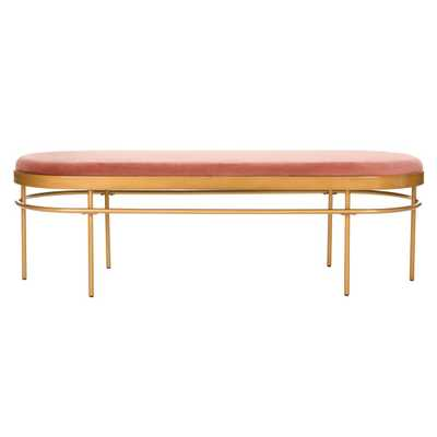 Sylva Oval Bench Dusty Rose - Safavieh - Target